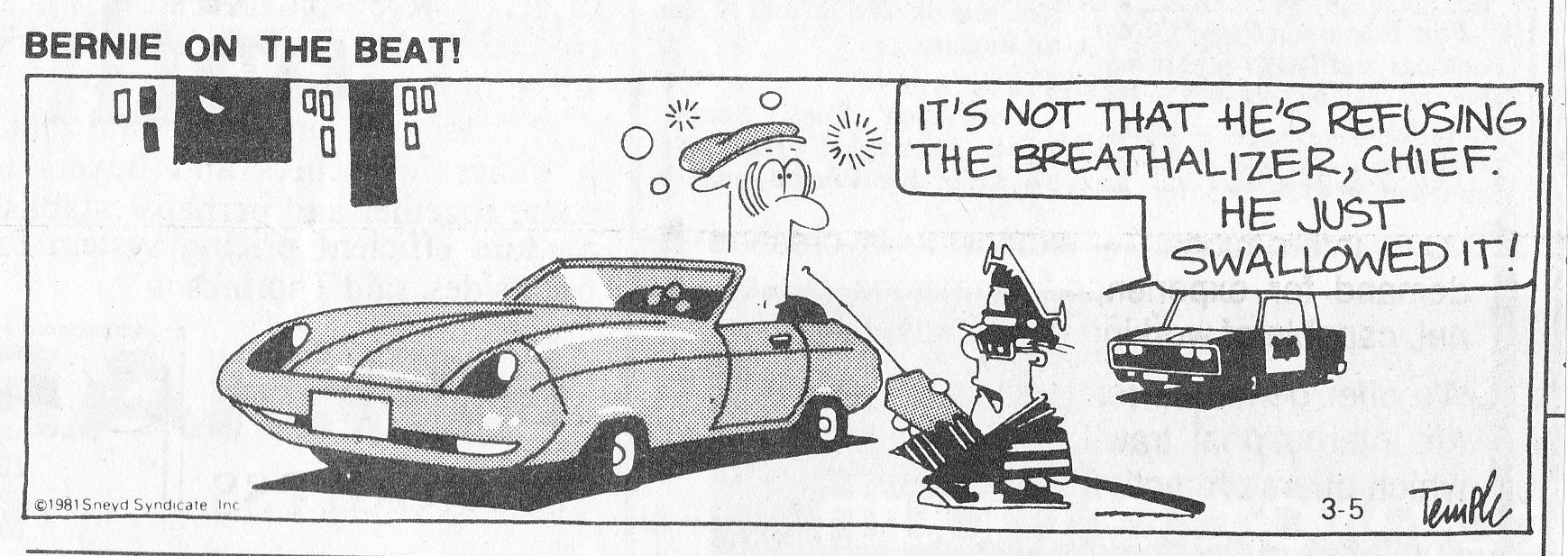 C:\Users\Robert\Documents\CARTOONING ILLUSTRATION ANIMATION\IMAGE CARTOON\IMAGE CARTOON B\BERNIE ON THE BEAT Edmonton Journal 5 March 1981.jpg