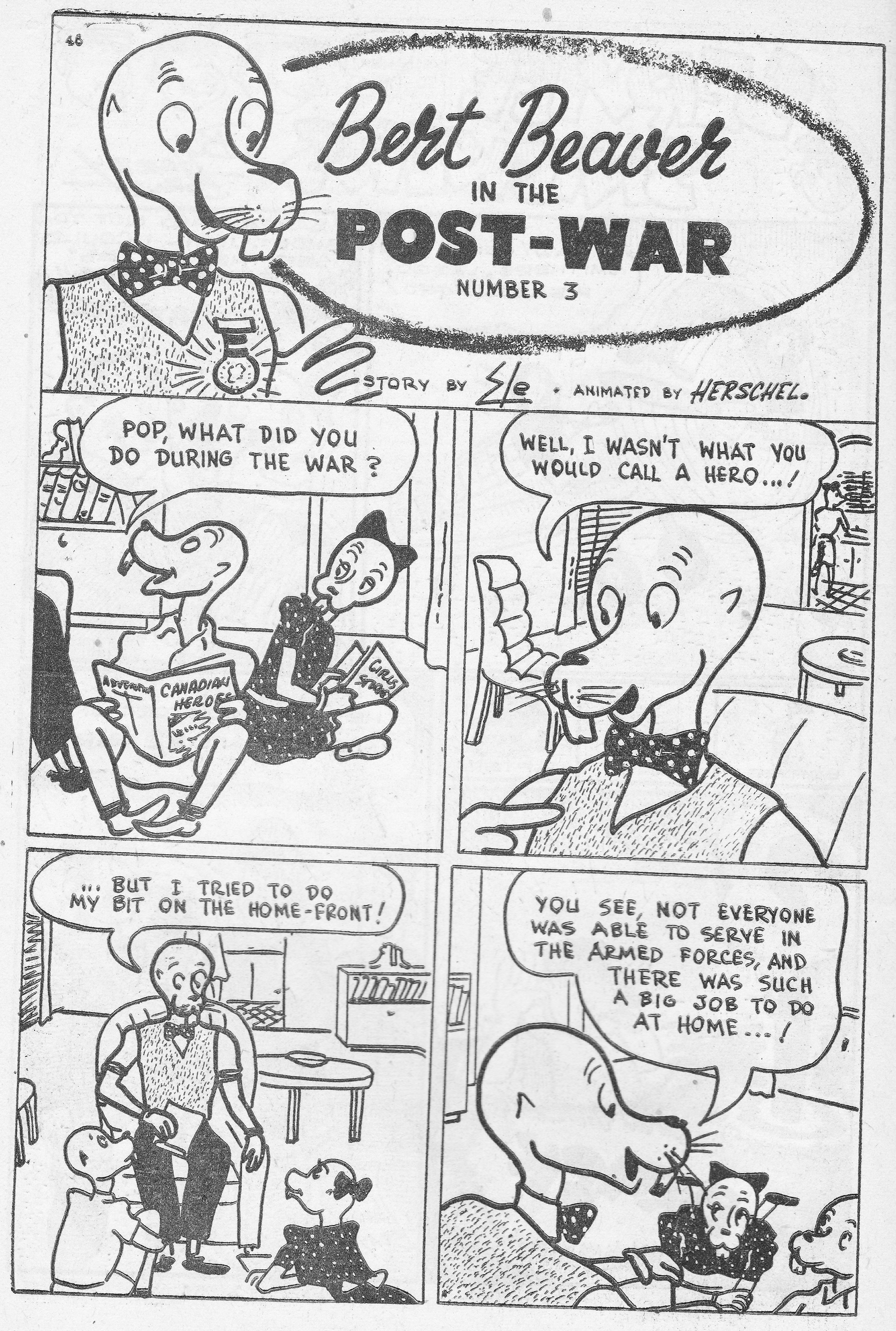 C:\Users\Robert\Documents\CARTOONING ILLUSTRATION ANIMATION\IMAGE CARTOON\IMAGE CARTOON B\BERT BEAVER, Canadian Heroes, 5-3, June 1945, 46.jpg