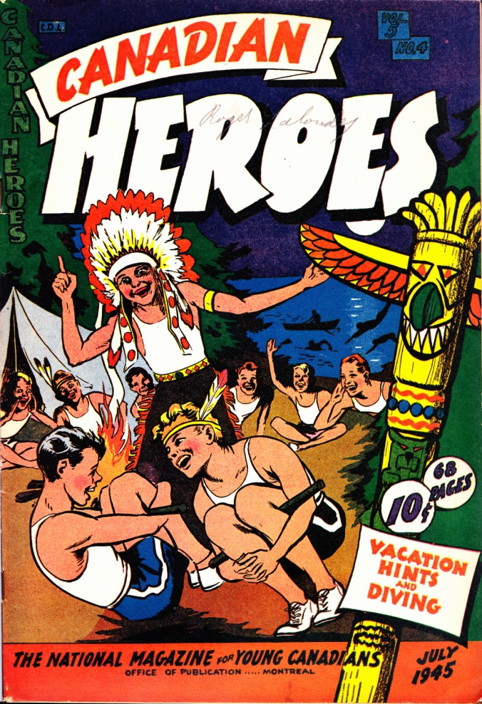 C:\Users\Robert\Documents\CARTOONING ILLUSTRATION ANIMATION\IMAGE COMIC BOOK COVERS\CANADIAN HEROES, 5-4, July 1945, fc.jpg