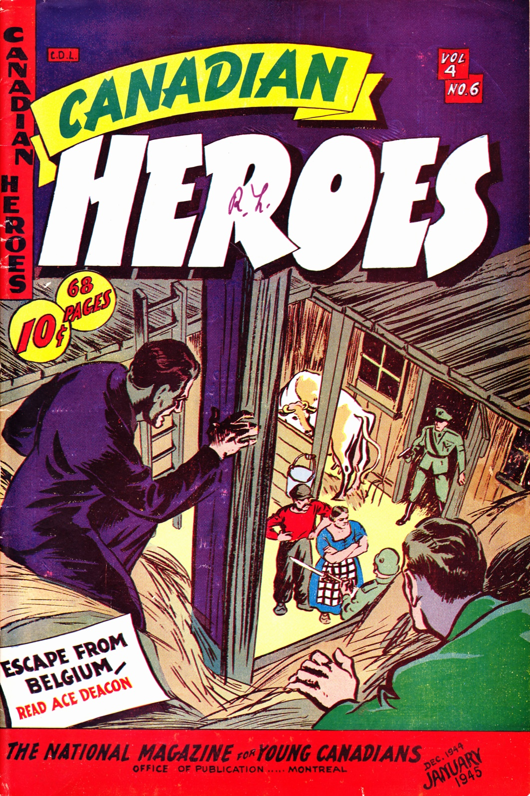 C:\Users\Robert\Documents\CARTOONING ILLUSTRATION ANIMATION\IMAGE COMIC BOOK COVERS\CANADIAN HEROES, 4-6, Jan 1945, fc.jpg