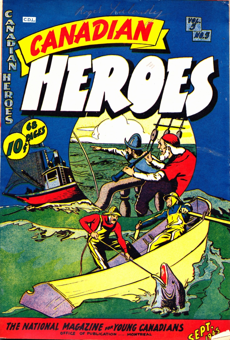 C:\Users\Robert\Documents\CARTOONING ILLUSTRATION ANIMATION\IMAGE COMIC BOOK COVERS\CANADIAN HEROES, 5-5, Sept. 1945, fc.jpg