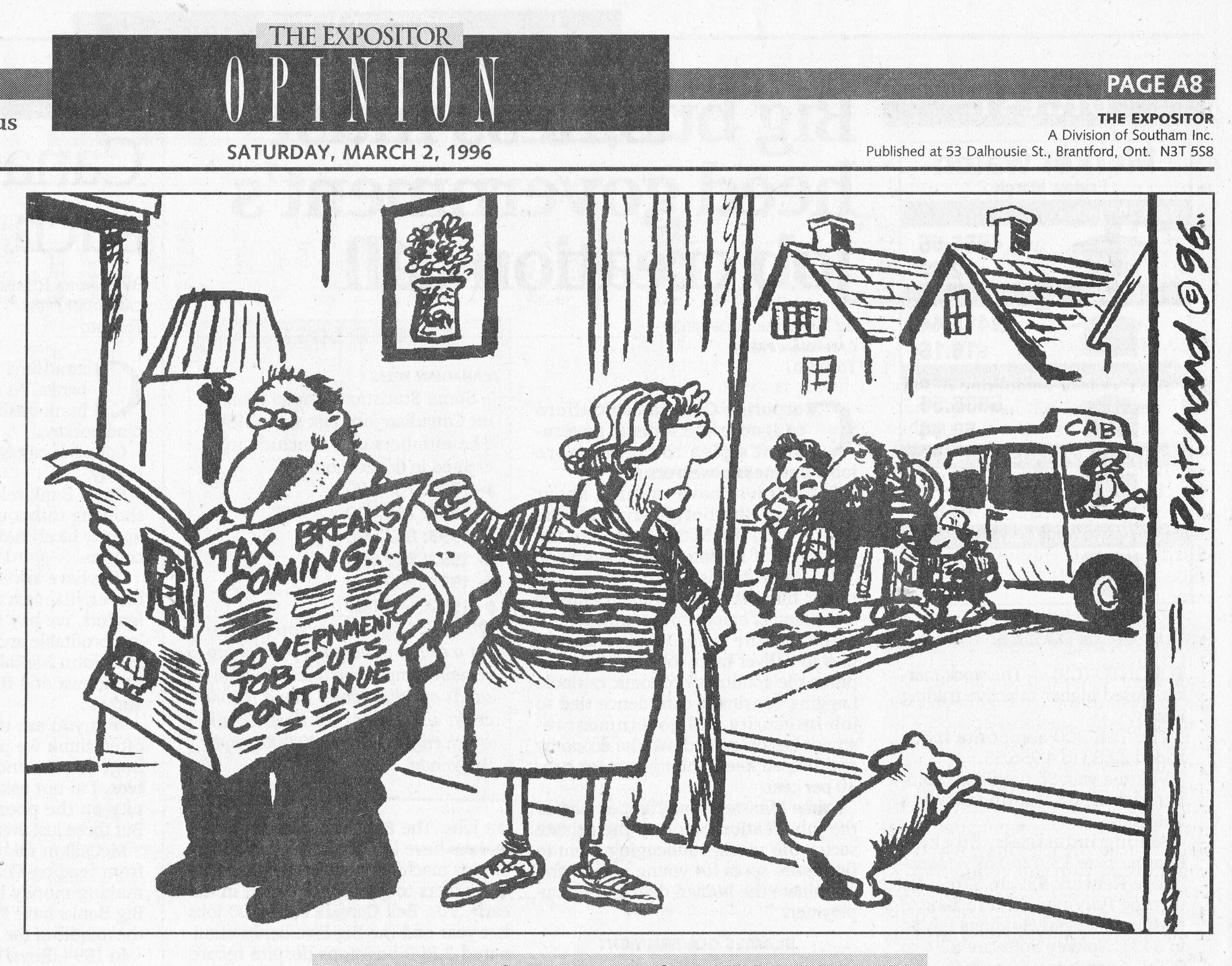 C:\Users\Robert\Documents\CANADIAN CARTOONING ILLUSTRATION and ANIMATION\IMAGE BY CARTOONIST OR ILLUS. P\PRITCHARD Dennis, Btfd. Expositor, 2 Mar. 1996, A8 .jpg