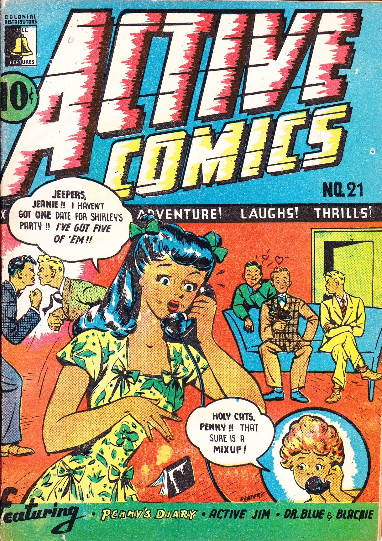 Penny's Diary Active Comics 21 cover