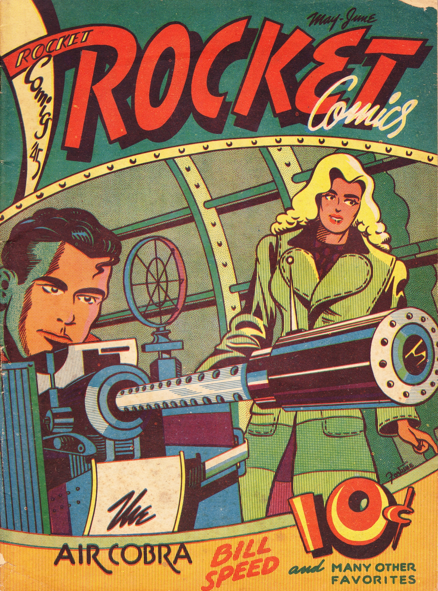C:\Users\Robert\Documents\CARTOONING ILLUSTRATION ANIMATION\IMAGE CARTOON\IMAGE CARTOON M\MONO THE AIR COBRA, Rocket, 5-4, MayJune 1945, cover.jpg