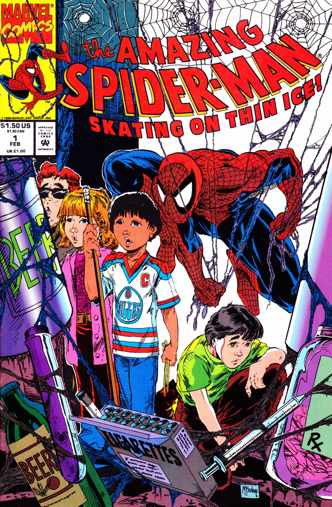 C:\Users\Robert\Documents\CARTOONING ILLUSTRATION ANIMATION\IMAGE CARTOON\IMAGE CARTOON S\SPIDERMAN, the Amazing Spiderman, 1-2, Fe3. 1993, fc.jpg
