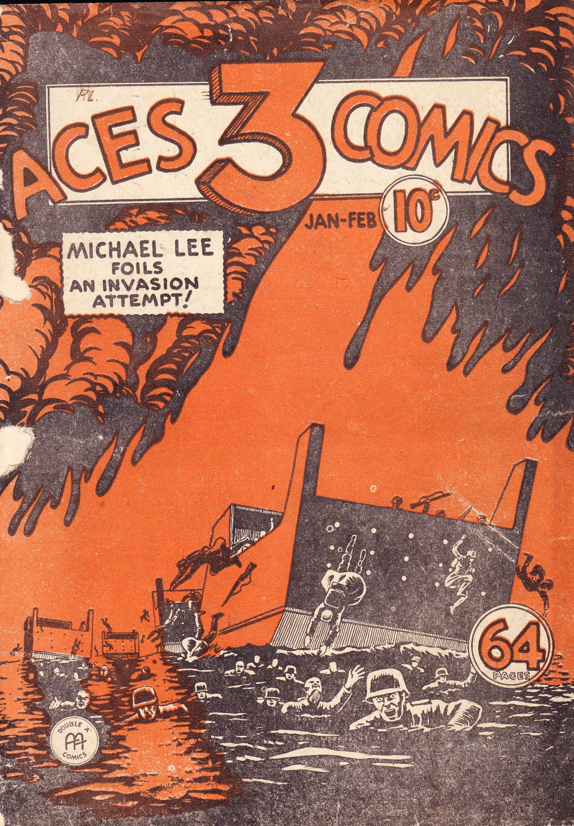 C:\Users\Robert\Documents\CARTOONING ILLUSTRATION ANIMATION\IMAGE COVER COMIC BOOK\THREE ACES, 1-8, Sept 1942, fc.jpg